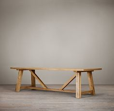 "Such a great table. The 72"" would be ideal for our dining room.  Trestle Reclaimed Russian Oak Dining Table"
