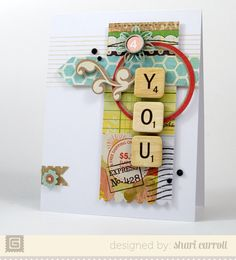 OH My!  LOVE this one from BASIC GREY This would make a great little embellishment grouping on a layout too! 4 You | Shari Carroll