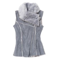 Make Me Plush Vest | Avon Outer shell: polyester. Faux-fur collar: acrylic/polyester. Faux-fur lining:polyester. Imported.