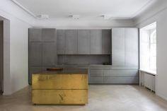 Gold & grey apartment / Richard Lindvall - Stockholm, Sweden