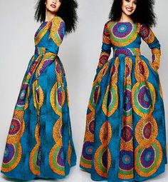 Sandra Maxi dress with pockets African by AfricanclothingStore