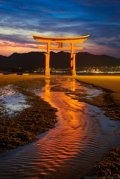 Itsukushima Torii Gate, Miyajima Island, Japan - Vermillion Tide - 朱色の潮流 - by Elia Locardi - on 500px.com