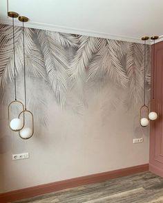 Room Design Bedroom, Home Room Design, Home Interior Design, Interior Decorating, Bedroom Decor, Wall Painting Decor, Wall Decor, Luxurious Bedrooms, Contemporary Decor