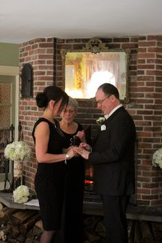 A small, intimate wedding in the Main Inn at Christmas Farm Inn in Jackson NH.