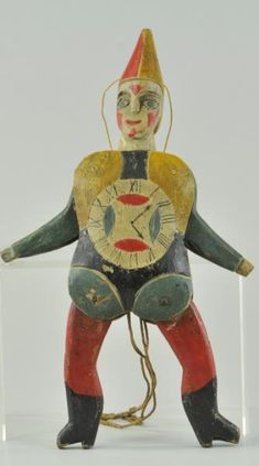 German carved clown jumping jack