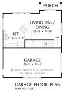 Garage// The Brooking House Plan #20-G - First Floor Plan