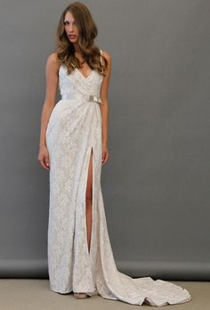 spring 2013 trend lace wedding dress from Blush
