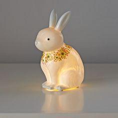 Land of Nod  Nightlight_Floral_Fauna_Bunny_On