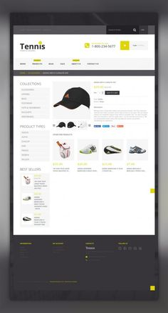 Tennis Accessories Shopify Theme E-commerce Templates, Shopify Themes, Sports, Outdoors & Travel, Sport Templates, More Sports, Tennis Templates