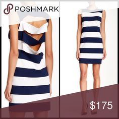 """10 CROSBY DEREK LAM ⚓️ Cut Out Striped Knit Mini Ahoy!  This cute body hugging knit sheath looks rich and ready for the yacht club... But the cut outs give this dress extra oomph.  Elegantly styled sheath dress featuring bold stripes Round neckline Sleeveless Back cutouts Pullover style About 36"""" from shoulder to hem Rayon/nylon/spandex Dry clean Imported. Size P = XS / S. Should fit up to size 4 10 Crosby Derek Lam Dresses Mini"""