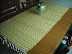 Lush Striped Runner with Tasseled Trim  28 x 60 by DressYourTable, $35.00