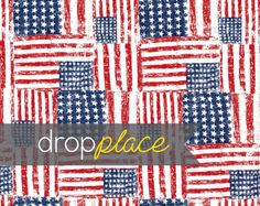 3x4 Durable Matte Vinyl Backdrop American Flag by DropPlace, $25.00