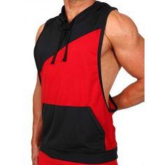 Pistol Pete Flex Hoody T-Shirt - rot/schwarz - Nr. Pistol Pete, Gym Wear, Hoody, Workout Wear, Mens Fitness, Athletic Tank Tops, Stylish, Red Black, Casual