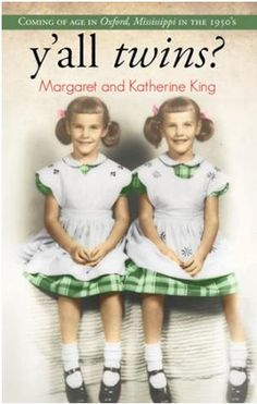 """Join us at Jesse Yancy Memorial Library for a Brown Bag Luncheon on Tuesday, March 26 at Noon. Our guest speakers Margaret and Katherine King will be sharing from their book """"y'all twins?""""   """"Growing up in the South, Kat and Margaret got away with everything!  Follow the King twins as they survive Miss America perms, slay fox stoles and conquer high heel boot camp. From the first time that they swapped classes, they never looked back.""""  Dessert and coffee will be served."""