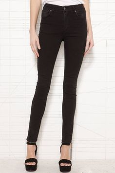 Cheap Monday Second Skin High-Waisted Skinny Jeans at Urban Outfitters