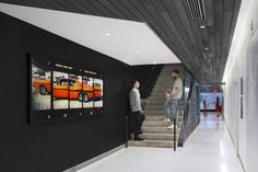 gray and black and white, masculine and nice Droga5   New York City Headquarters