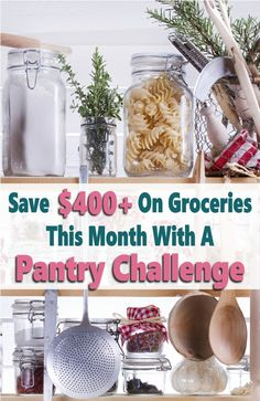 How'd you like to save $400 or more on groceries in a month? Who wouldn't right? Well you can by doing  a pantry challenge.This article will explain how it work, the rules of the challenge plus tips and ideas to survive a pantry challenge. This is seriously a great way to control your grocery budget, save money, on food and declutter you kitchen by organizing your pantry, fridge, and freezer while saving money on food. #pantrychallenge #grocerybudget #mealplan #mealplanning Free Groceries, Save Money On Groceries, Groceries Budget, Family Meal Planning, Budget Meal Planning, Money Saving Meals, Money Hacks, Money Savers, Money Tips