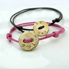 Personalised Button Bracelet - men's jewellery