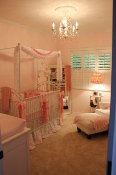 Project Nursery - Vintage Glam Girl Nursery Room View