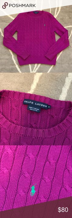 f969590744 POLO RALPH LAUREN CABLE KNIT SWEATER SIZE M POLO RALPH LAUREN CABLE KNIT