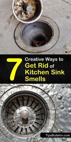 Here are tips and tricks for getting rid of the sewer gas smell from a kitchen sink drain without calling a plumber. Flush away gunk and food particles with boiling water, run ice cubes through the garbage disposal, or use natural cleaners like lemon juice. #kitchensink #smellysink #sink #smell Green Cleaning Recipes, Natural Cleaning Recipes, House Cleaning Tips, Natural Cleaning Products, Cleaning Hacks, Homemade Bathroom Cleaner, Homemade Drain Cleaner, Cleaners Homemade, Cleaning Sink Drains