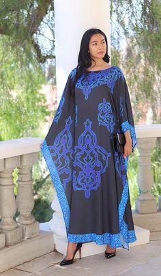 FLORAL PRINT WOMENS LONG KAFTAN DRESS AFRICAN STYLE TARBAN 12 TO 24 DICSHI