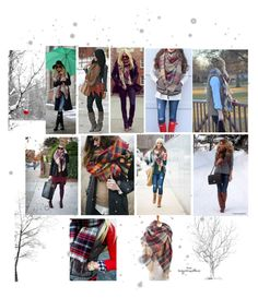 """Blanket Scarf Winter Looks"" by virgojen on Polyvore featuring H&M"