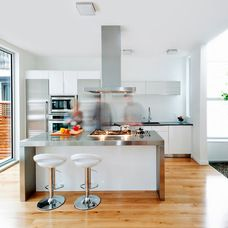 contemporary kitchen by LineBox Studio