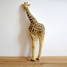 Ever wanted to have a giraffe in your home? Now you can with this fun Giraffe Pillow.  Kids would love this in their room and it would make perfect for a nursery! Especially for Noah's Ark Theme Nursery. Baby shower gift idea????