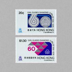 Diamond Jubilee of Girl Guides. Hong Kong, 1976. Design: Peter Ma #mnh #mintneverhinged #mnh_hkg #postagestamps #HongKong