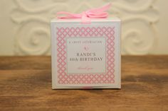 12 Favor Boxes with Personalized Labels - Metro Design in Pink - wedding favors, party favors, baby shower favors, bridal shower favors