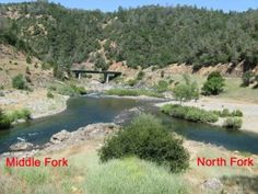 """""""The Clementine Trail is a pretty four mile jaunt from the Confluence of the North and Middle Forks of  the American River upstream to the Clementine Dam and back.  The Confluence is about two miles below Auburn, California, down in the American River Canyon.  It is a popular spot for picnics and swimming, but you have to be...careful, especially in the Middle Fork.  That part of the American is cold and dangerous.  The North Fork, at least down here at the Confluence, is mild and happy..."""""""