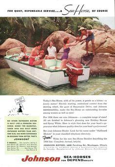 1956 Johnson V-75 Seahorse Boat Ad Boats for Women Motorboat Motor Boat Waukegan Illinois Tropical Drink Wall Decor by SkippiDiddlePaper on Etsy https://www.etsy.com/listing/163077953/1956-johnson-v-75-seahorse-boat-ad-boats
