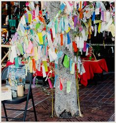 Japanese Wishing Tree…perhaps a tree related to art therapy? Activity for clos… Japanese Wishing Tree…perhaps a tree related to art therapy? Activity for closing of a retreat? Feelings tree over the course of several months? Group Art Projects, Art Therapy Projects, Art Therapy Activities, Art Therapy Directives, Creative Arts Therapy, Art Brut, Community Art, Community Building, Expressive Art