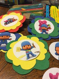 Cupcake toppers pocoyo por Yulissayolanda en Etsy Ideas Para Fiestas, Cupcake Toppers, 2nd Birthday, First Birthdays, Kids Rugs, Baby Shower, 1 Year, Jr, Angel