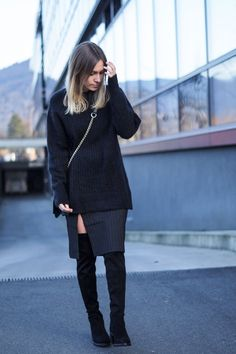 Cozy Wool Sweater. Ihr glaubt gar nicht, wie viele Outfit-Bilder noch auf meinem Desktop rumliegen und nur darauf warten, gepostet zu werden. Benni und ich