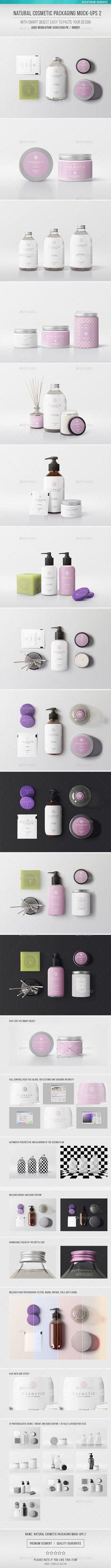Natural Cosmetic Packaging Mock-Ups. Download here: https://graphicriver.net/item/natural-cosmetic-packaging-mockups-2/17337833?ref=ksioks