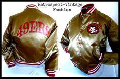 Vintage SAN FRANCISCO 49ers nylon Jacket  // by RetrospectBoutique, $54.99