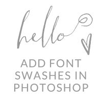 How to Add Swashes to Fonts in Photoshop | angiemakes.com