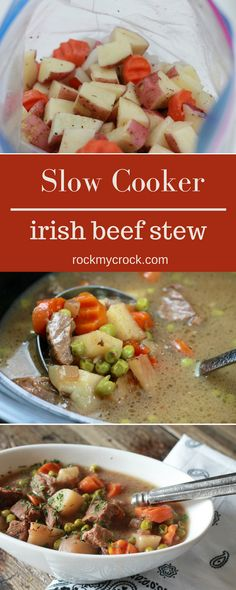SLOW COOKER IRISH BEEF STEW. This is comfort food at its best. So ...