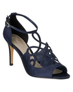 Satin Filagree Peeptoe Shoes. Race day outfit, race day look, race day shoes - Perfect for Cheltenham, Epsom, Ascot