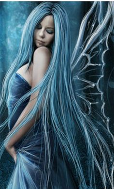 Fan Art of crepuscular for fans of Fairies. sexy blue fairy