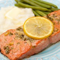 combine 2 Tbsp freshly chopped parsley, 2-3 cloves pressed garlic, 1.5 tsp dijon, 1/2 tsp salt, 1/8 tsp pepper, 1/8 cup olive oil and 2 tbsp fresh lemon juice. Generously brush all sides of your salmon with the sauce Bake at 450 °F for 12-15 minutes
