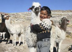 L' Âme du Monde Elvys from Bolivia loves his llama – and the llama looks cheerful too! Llamas are a great asset for hard-working families as they can help with carrying water, food and firewood as well as providing wool for families to sell. With a reliable source of income, they'll have more to invest in the health and education of their children. © world vision