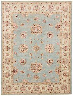 Ziegler Teppich Handgeknüpft aus Pakistan 149 x 195 cm, Rechteck, Beige,Blau