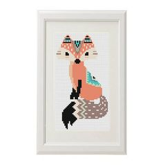 Be Brave Tribal Fox Cross Stitch pattern ethnic pattern Boho  Animal Cross Stitch Pattern modern Cross stitch baby chart Embroidery scheme