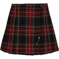Tartan wool mini skirt ($735) ❤ liked on Polyvore featuring skirts, mini skirts, bottoms, faldas, saias, yves saint laurent, short wool skirt, short plaid mini skirt, wool skirt and wool mini skirt