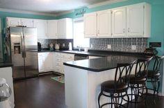 before and after kitchen reveal wow, home improvement, kitchen backsplash, kitchen cabinets, kitchen design, painting