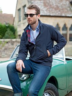 Baracuta-Blouson G9 Harrington in Dunkelblau