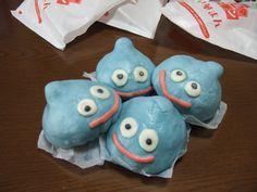 Dulces con aspecto de Limo personaje de Dragon Quest #dulce #dragonquest #comida #videojuegos